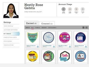 Credly Badges earned in Virtual Assistant Bootcamp
