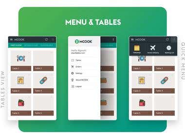 MCOOK : Restaurant Management Application Design