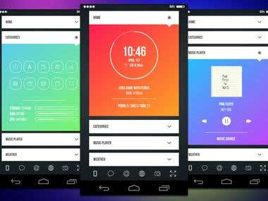 Android and UI app Designs