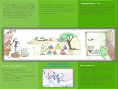 Tri fold Brochure on Hygiene campaign