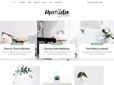 Matilda - PSD to HTML Service Responsive Website Template