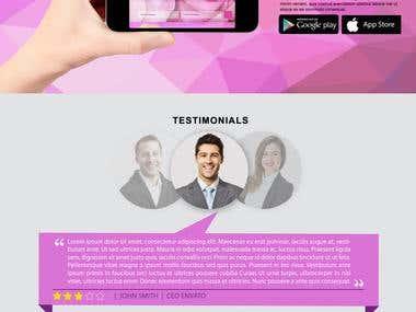 Makeup artist PSD web template