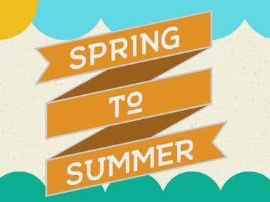 """Spring to Summer"" Cookout Banner"
