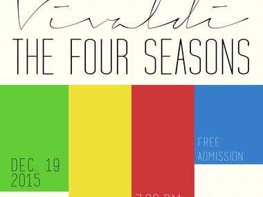 """The Four Seasons"" Event Poster"