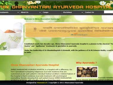 Dhanvantari Ayurveda Hospital Website