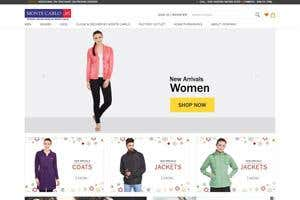 Monte Carlo-Ecommerce website helps you shop all clothings.