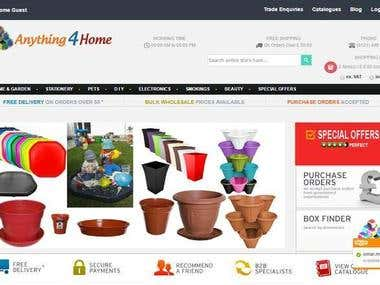 ANYTHING4 HOME E COMMERCE WEBSTORE