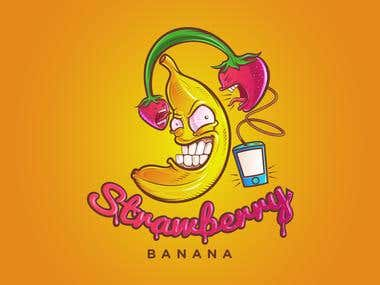 Strawberry Banana - Concept illustration