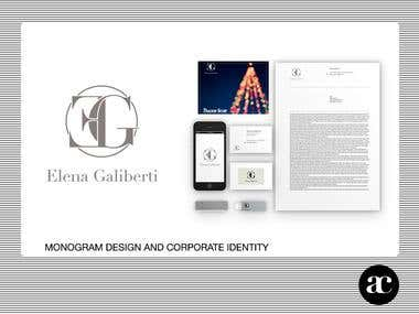 Monogram EG and Corporate Identity