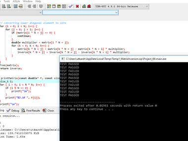 Fast Matrix multiplication and inverse
