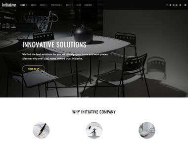 Initiative - PSD to HTML Responsive Website Design