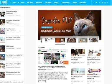 PetGunlugu.com - WordPress Blogging Design