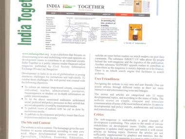 Development Window: 'IndiaTogether.Org'