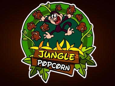 LOGO DESIGN FOR JUNGLE POPCORN