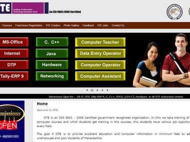 Educational Training Institute Website