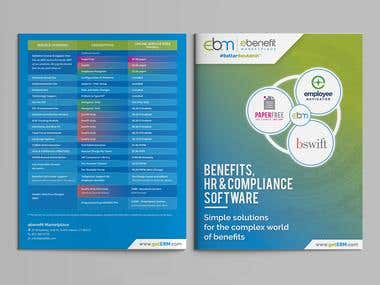 ebenefit Marketplace Brochure and Trade-show Booth Design