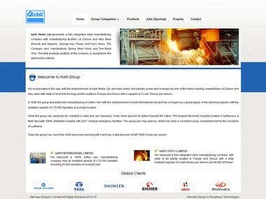Aarti Steels- Steels products are manufactured .