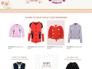 Yellow Apple: Online shopping website for infants & kids