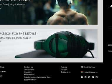 Bose Website Design