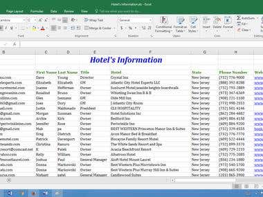 500 Personal e-mails for Hotel decision makers