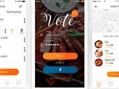 Mobile app vote