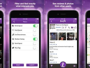 Food ordering iOS application