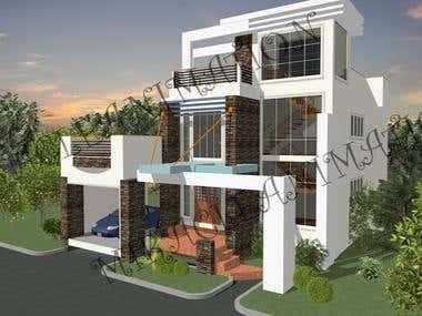 3D House Model Design