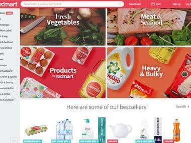 Shopping Web site build - React.js