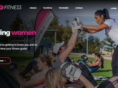 Inspire Fitness Web Development