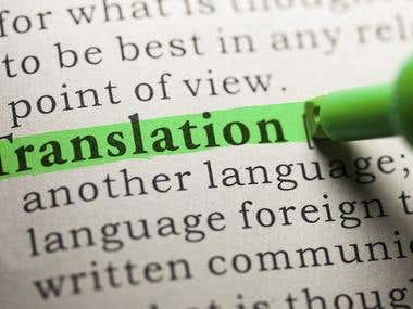Translation & Transcription