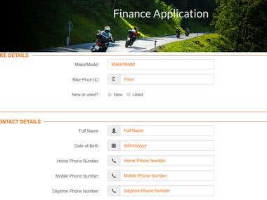 Responsive Web Forms for Finance Firm