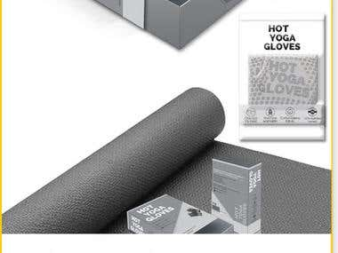 Packaging for hot yoga gloves