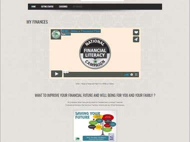 MyFinances Webpage