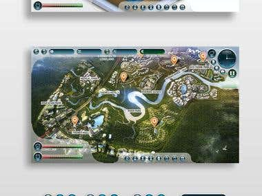 ThemePark Game GUI Design