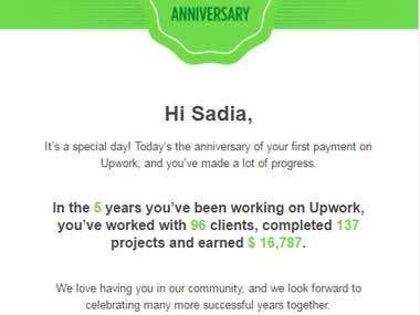 Upwork 5 Years Anniversary
