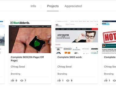 complete portfolio on Behance