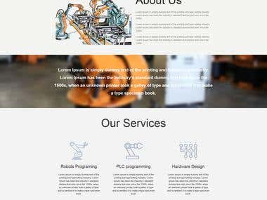 Industrial robotics work based website (Sotorion)