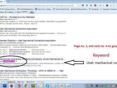 Keyword Rank to First Page of Google