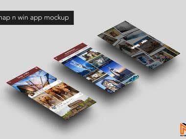 Snap n Win app mockup