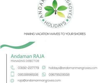 Visiting Card for Andaman Mangroves Holiday