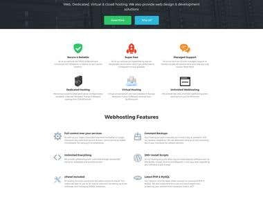 Clean Web Hosting Design