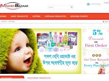 Development of a eCommerce site for Masherbazaar.com