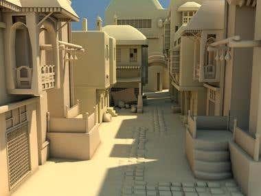 3d Egyptian Street