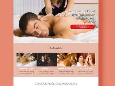 Mock Up Web Proposal for Massage Therapists
