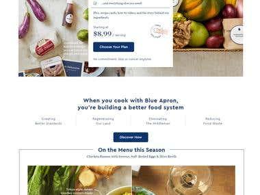 Blue Apron: Fresh Ingredients, Original Recipes