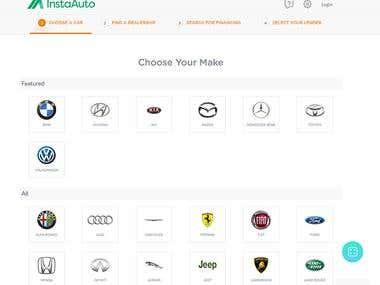 Insta Auto Website.