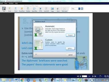 Pdf converting to: Word, Excel, Power point and so on