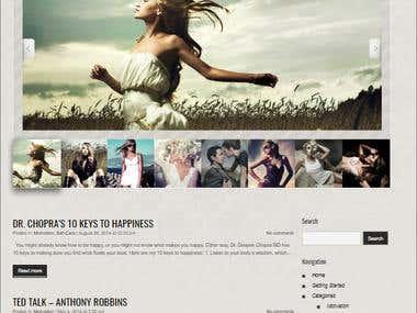 10Qlife WordPress Website