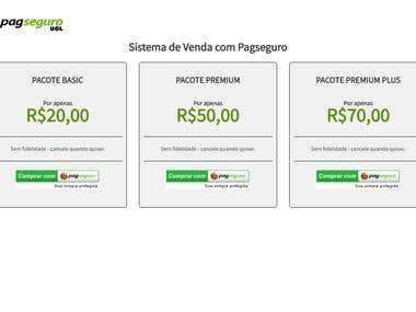 Integração PagSeguro para website