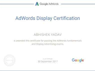 Google Adwords Display Network Certification